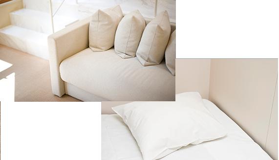 ベッドの隙間や、マットレスの木の裏、ソファーの隙間など、不特定多数の方々が毎日利用される場所では、清掃がいき届いておらず、ダニや床じらみ(南京虫)発生の危険性が高まります。